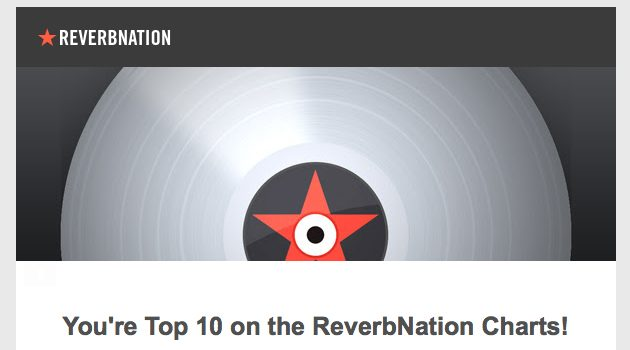 ✩ Top 10 on ReverbNation Charts ✩